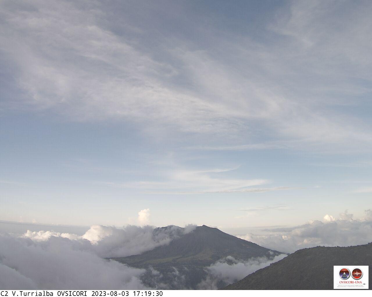 Volcán Irazú en Vivo. Cámara Web del OVSICORI