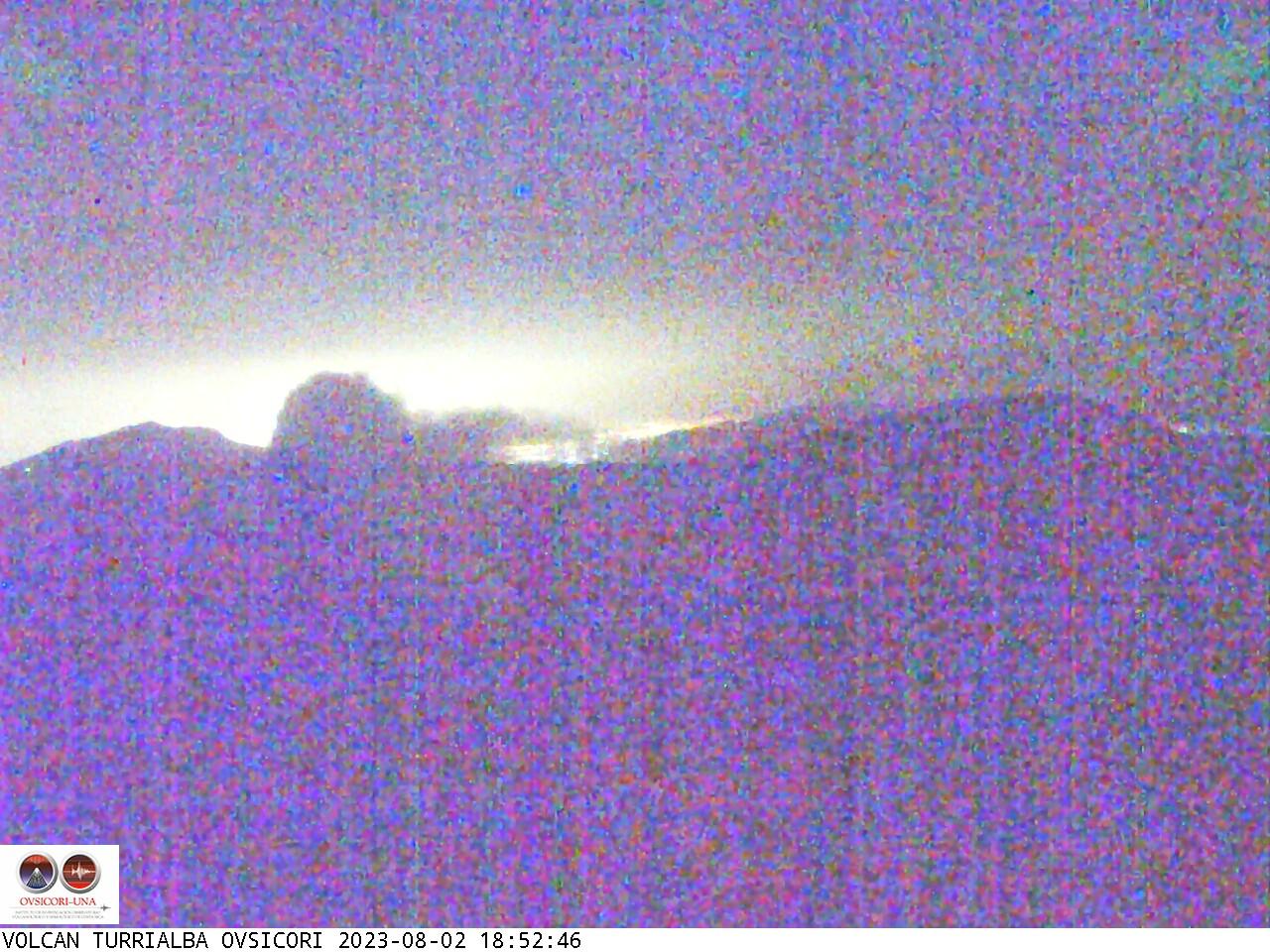 Volcán Turrialba en Vivo. Cámara Web del OVSICORI
